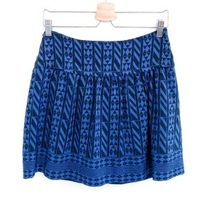 Madewell Silk Skyline Skirt In Geometric Stripe